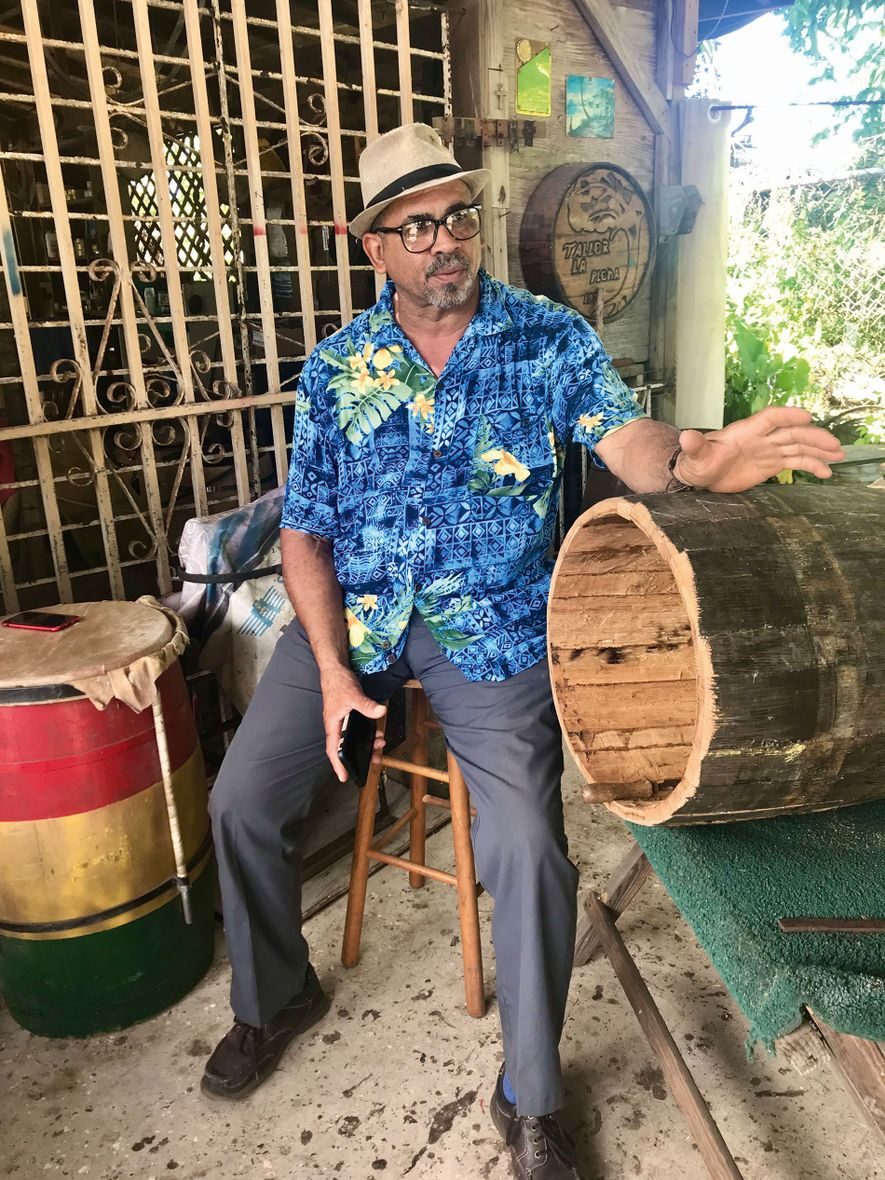 Juan Fuentes is a fiercely proud Boricua, and has been making bomba drums for over 40 ...