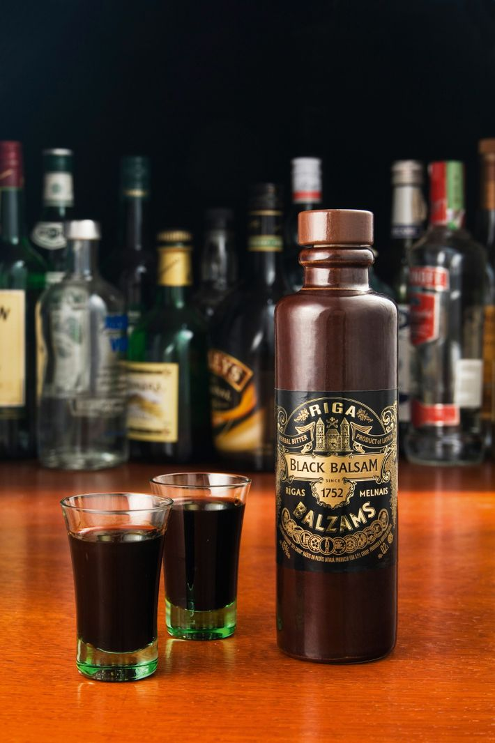 Riga Black Balsam is a potent herbal brew in ceramic bottles loved by the locals in ...