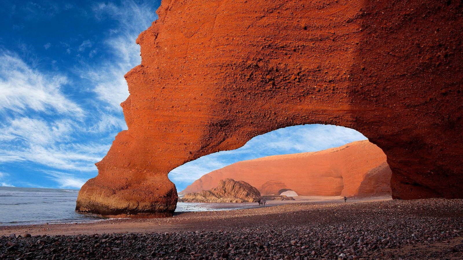Legzira Beach in Morocco, Africa