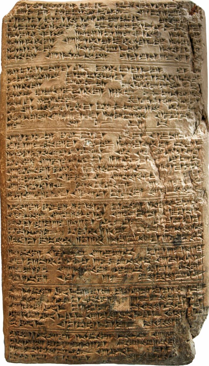 Written in cuneiform, Letter 19 of the Amarna archive is from Tushratta of the Mitanni to ...