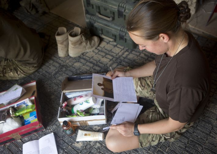 'Letter from home:' Afghanistan, 2012.