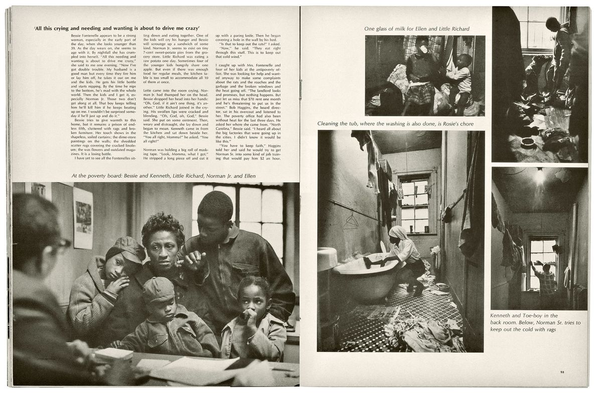 """In """"A Harlem Family,"""" Parks focused on the daily life of the Fontanelles. In his accompanying ..."""