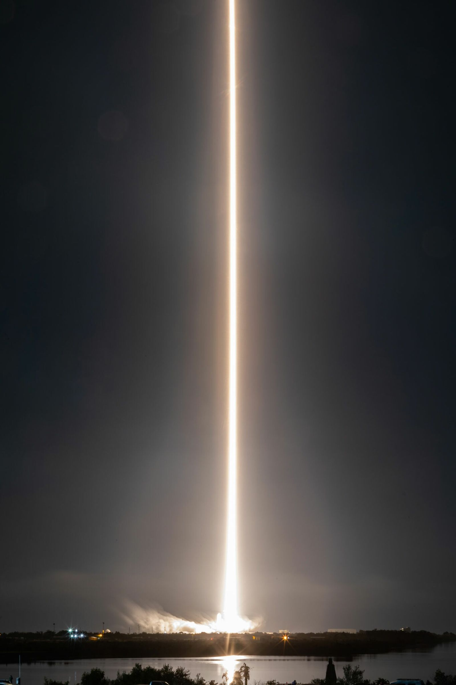 A Falcon 9 rocket carrying the Crew-1 mission lifts off the launch pad at NASA's Kennedy ...