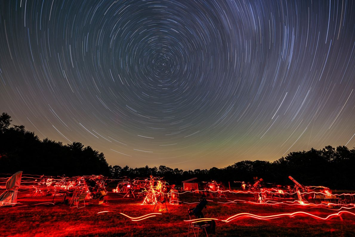 Some areas of upper New England are sparsely populated, meaning that light pollution is low and ...