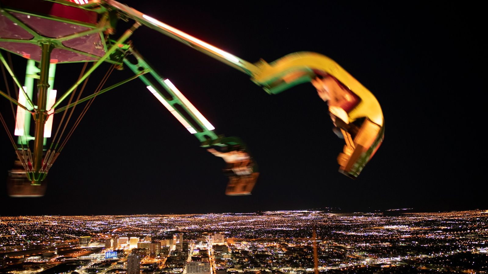 Seen from the Stratosphere tower, Las Vegas is like its own galaxy of nighttime lights. Christopher ...