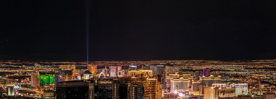 The city of Las Vegas dumps an enormous amount of light into its environment, turning the ...
