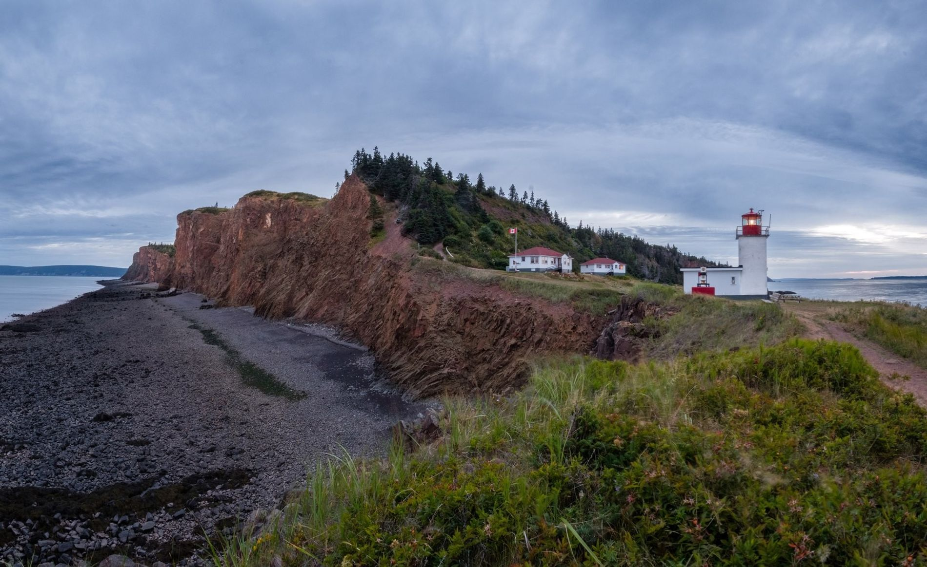 Visitors who spend the night in the lightkeepers house at Cape d'Or, can experience the solitude ...