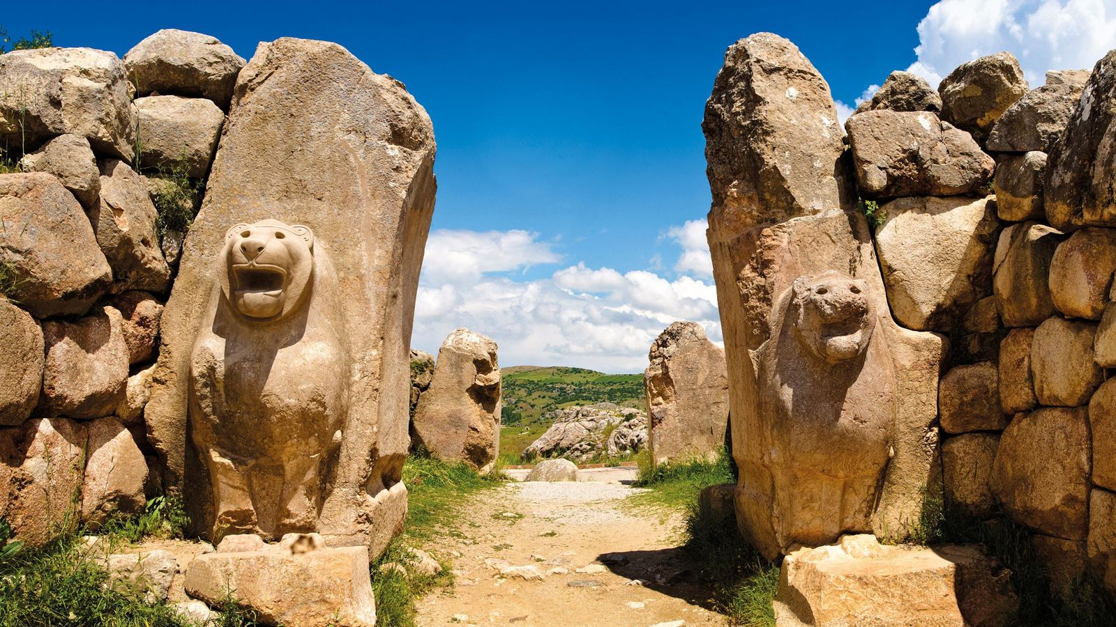 The Lion Gate was one of the entrances to Hattusa, the Hittite capital city. Following its ...