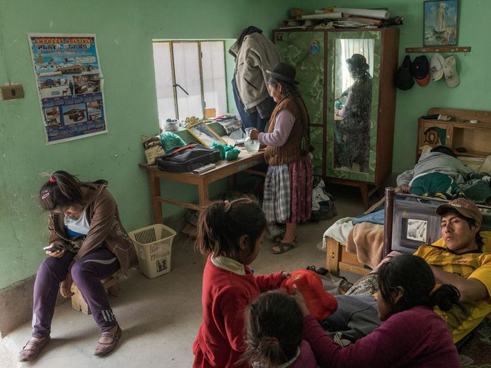 Three generations of the Copa family live in four one-room buildings in Chiltaico near the northern ...