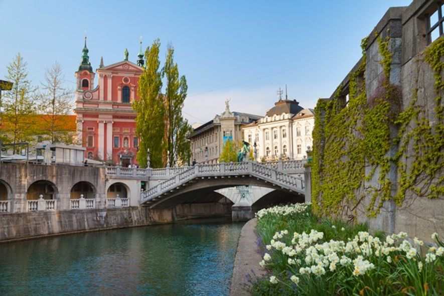 View of Ljubljana from the river