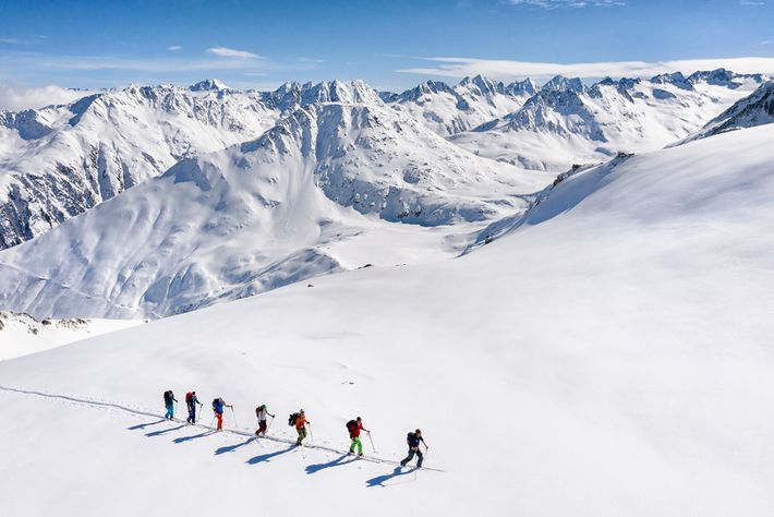 Ski touring is one of Nico's favourite activities, although a high level of fitness is needed to ...