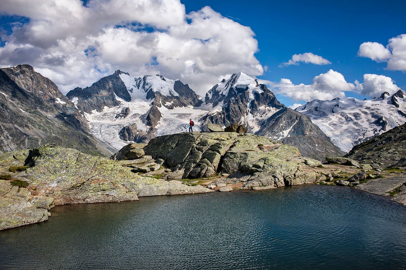 The hike to Fuorcla Surlej from St. Moritz is fairly easy, and walkers can reach this dazzling lake ...