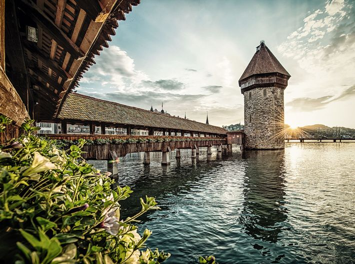 Lucerne is famed for its beautifully-preserved medieval architecture, including the picture-perfect Chapel Bridge.