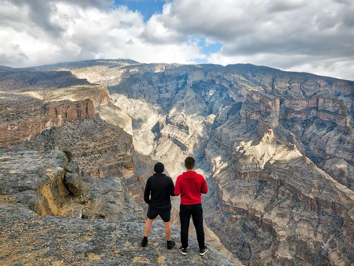 At 9,842ft, Jabal Shams is the highest mountain in the Hajar range and is extremely popular ...