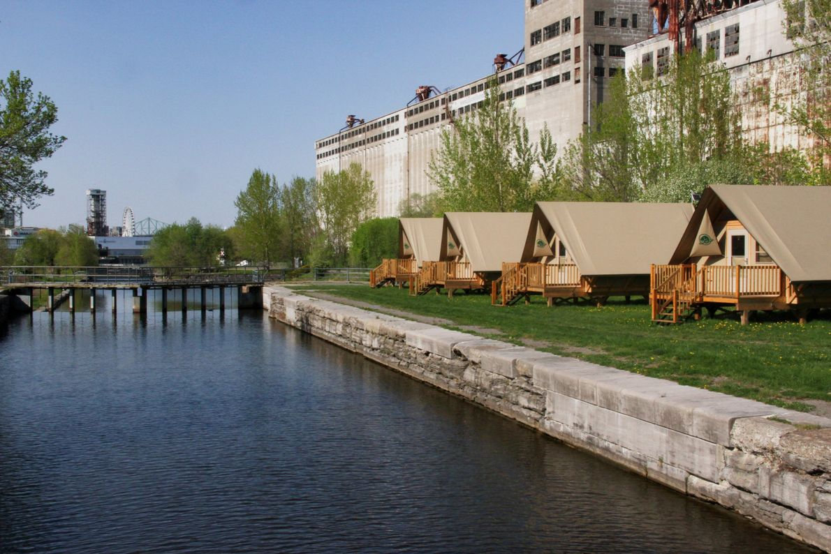 For a new lodging experience in Old Montreal try urban camping in an oTentik, located at ...