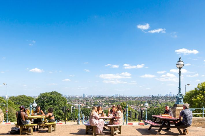 The Terrace Bar at Alexandra Palace is open to groups of up to six people, who ...
