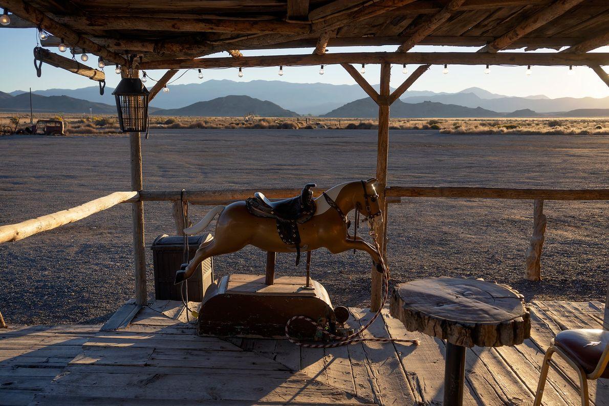 Middlegate Station on Route 50 overlooks the seemingly endless desert.