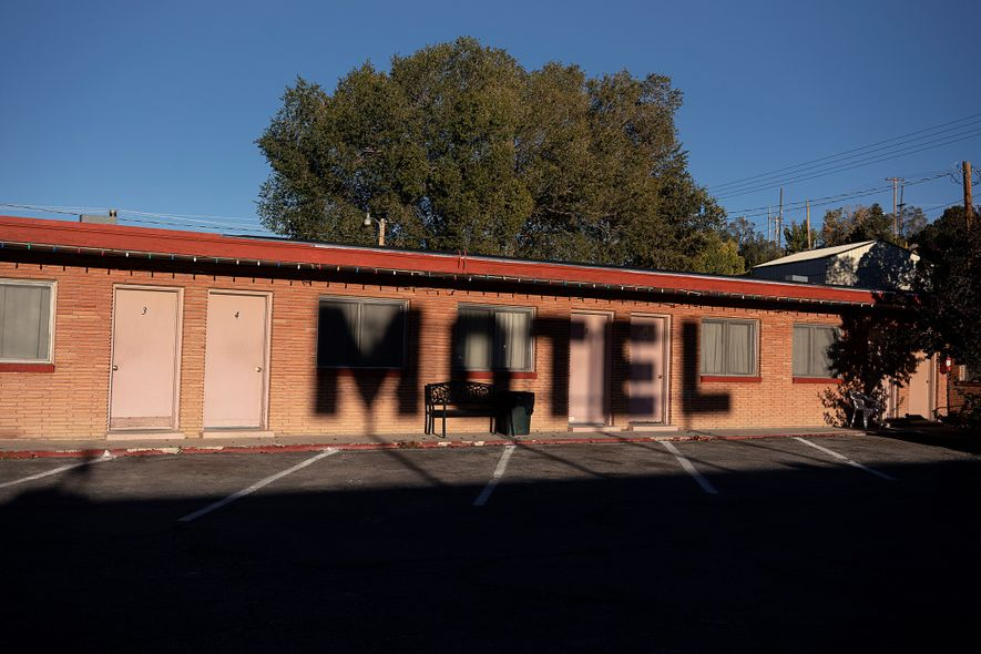 The Deser-est Motel sits on the roadside in Ely, Nevada.