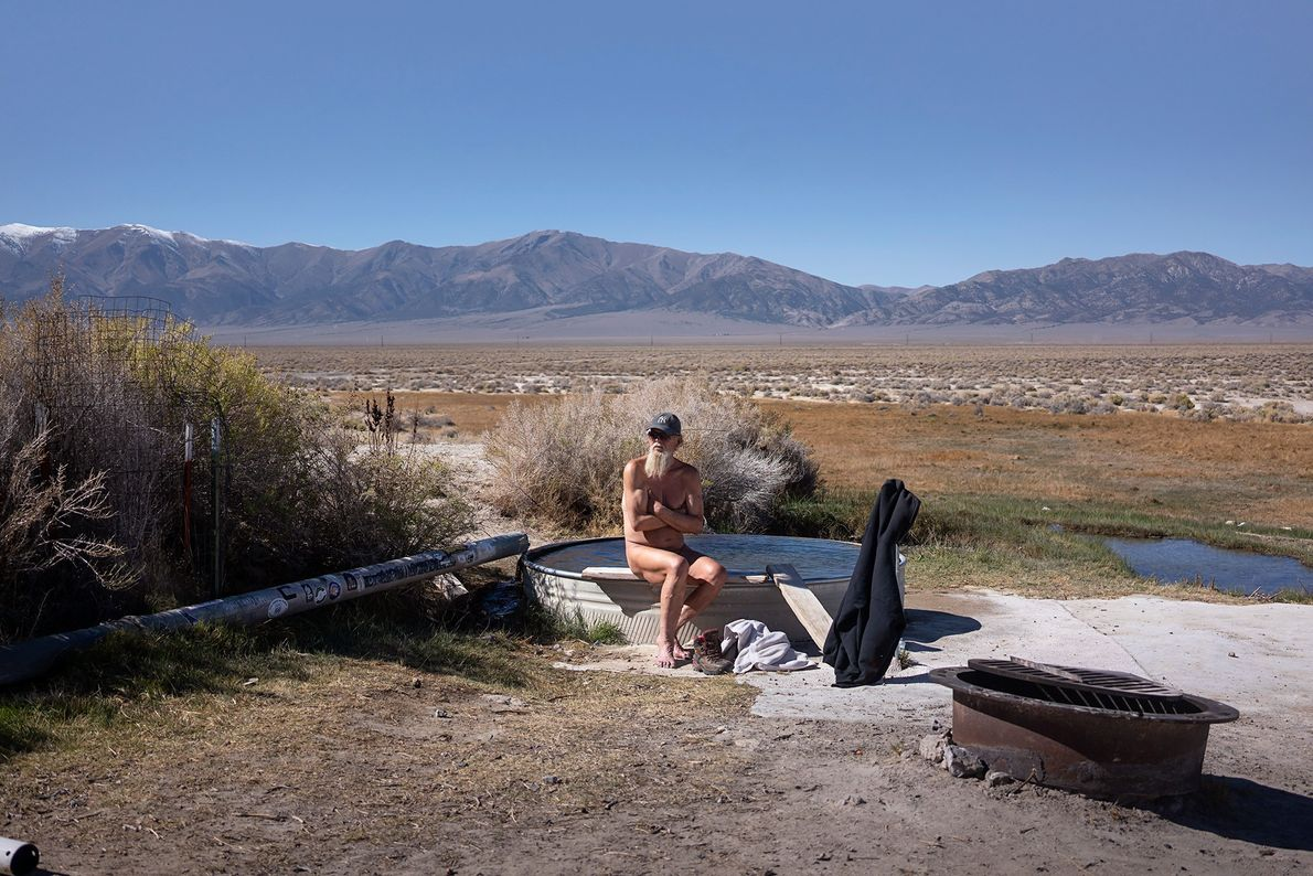 Spencer's Hot Springs are located near the town of Austin on Route 50. Seventy-one-year-old Jerry Britt ...