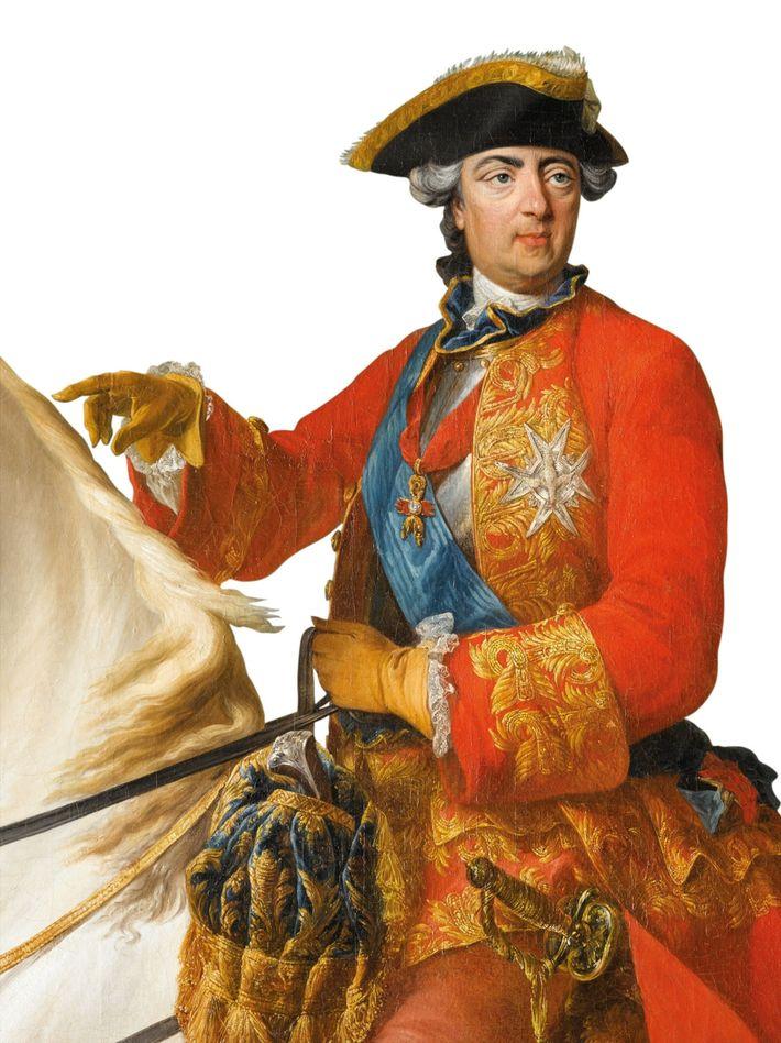 King Louis XV, portrait, 1763. Palace of Versailles