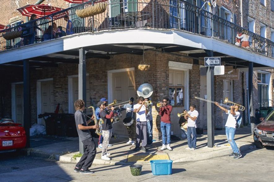 Teenage musicians, New Orleans. Credit: Alamy