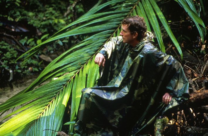 Author Thomas Lovejoy, seen here in the Amazon rainforest of Brazil in 1989.