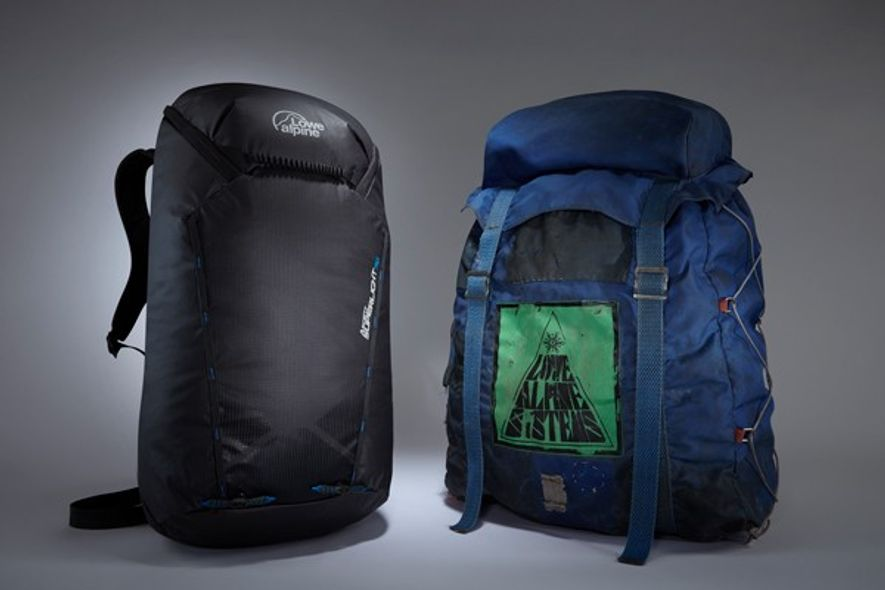 Lowe Alpine Superlight alongside Expedition Pack