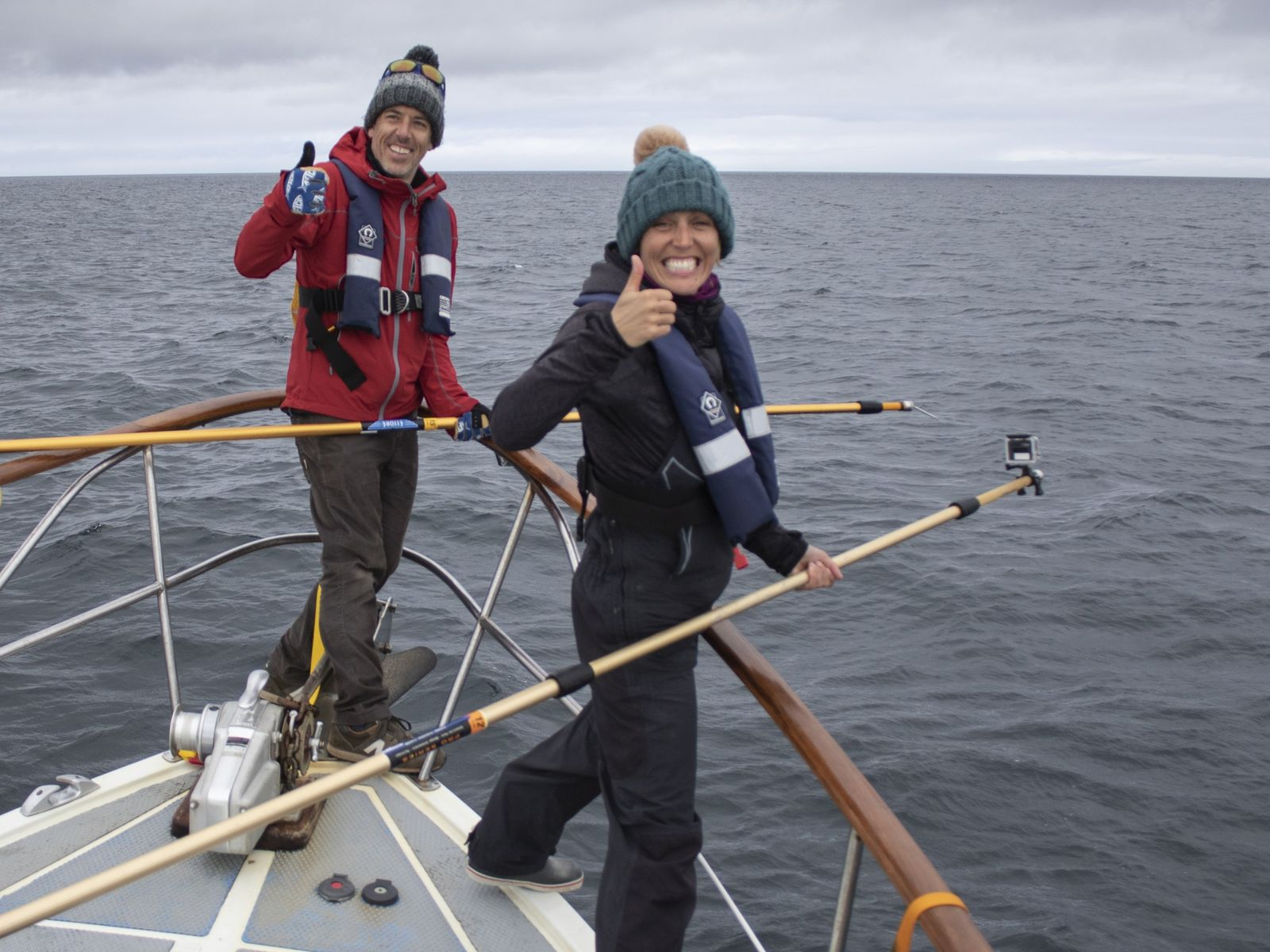 National Geographic Explorer Lucy Hawkes in action.