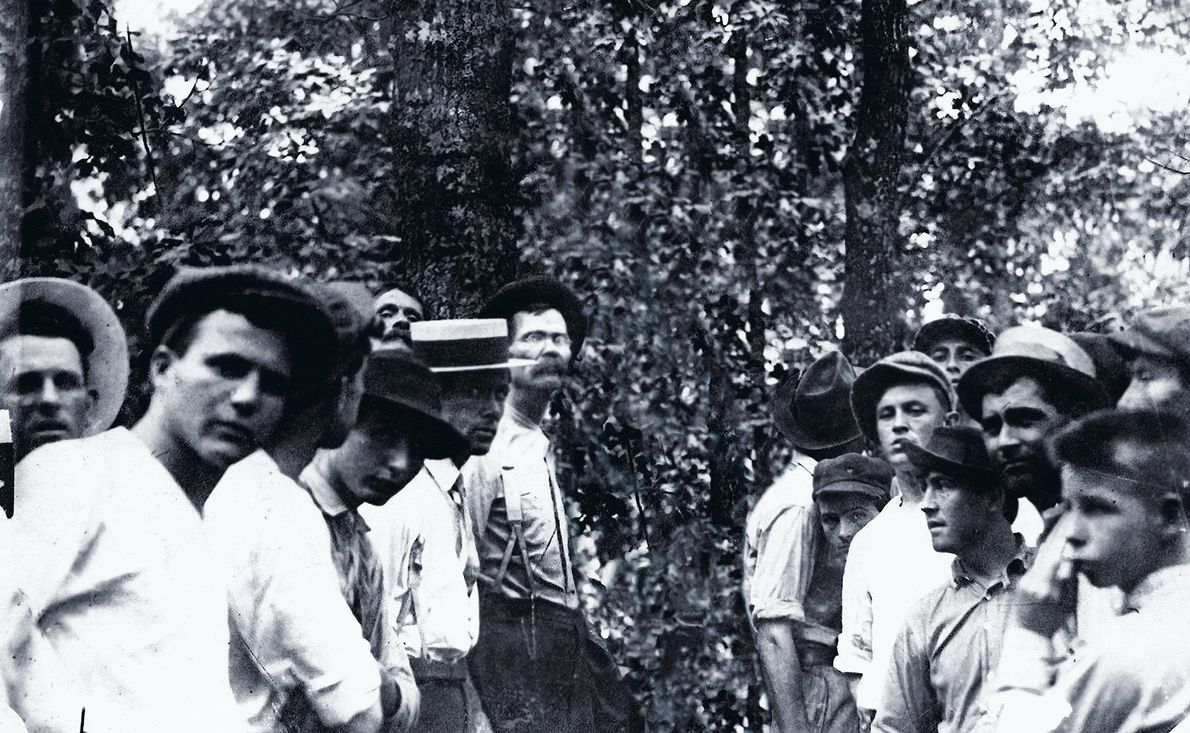 """Lynching of Leo Frank, Atlanta, GA., 1915  Artist Ken Gonzales-Day has been widely recognized for the """"Erased ..."""