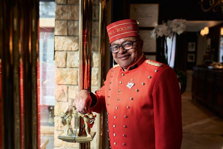 Daniel Abdallah groom/doorman at Paul Bocuse's L'Auberge du Pont de Collonges.