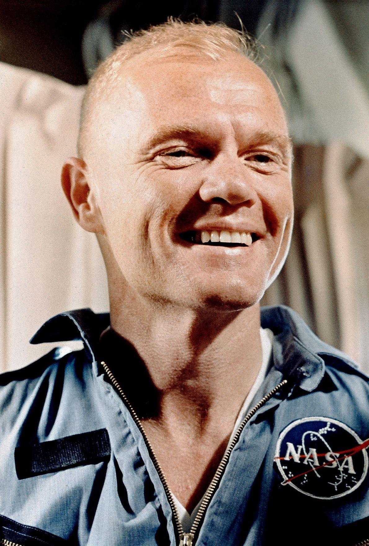 John Glenn in 1960. At the time of his first orbital flight in 1962, Glenn was ...