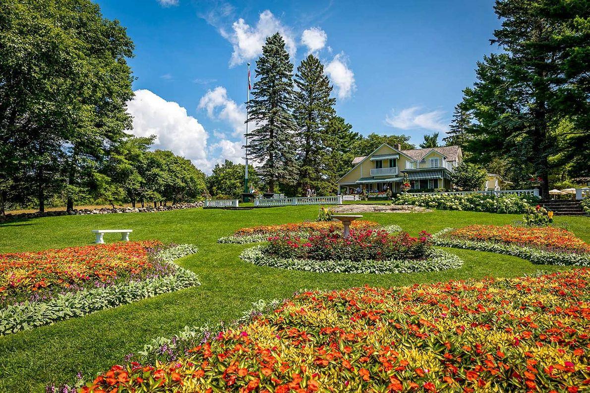 View of the beautiful gardens surrounding the Mackenzie King Estate.