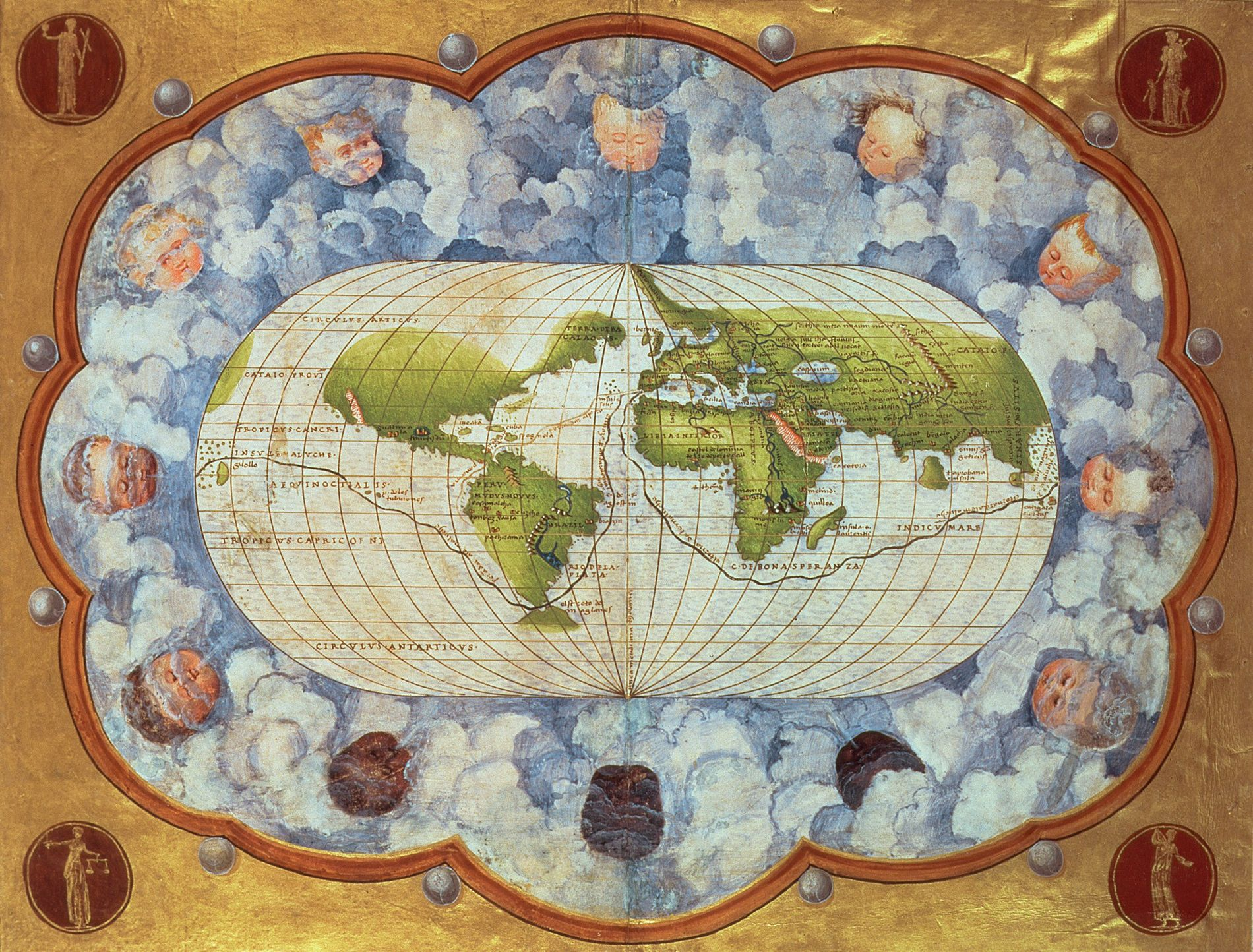 A 1545 map traces the route of Magellan's world voyage—a milestone in the centuries-long process of ...