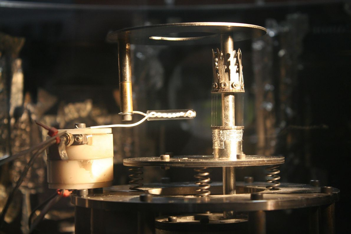 The experimental set-up for MAGPIE, seen while the machine is not in use.