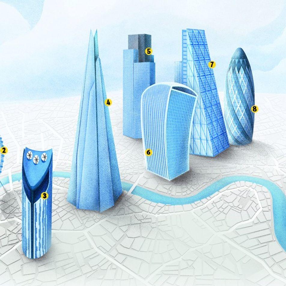 The graphic: London's skyline