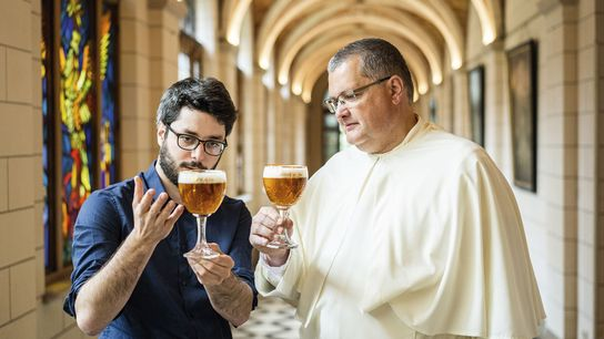 Father Karel Stautemas and Marc-Antoine Sochon.