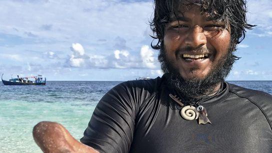Maldivian guide, Ahmed Trish Rasheed (aka Teddie), after snorkelling