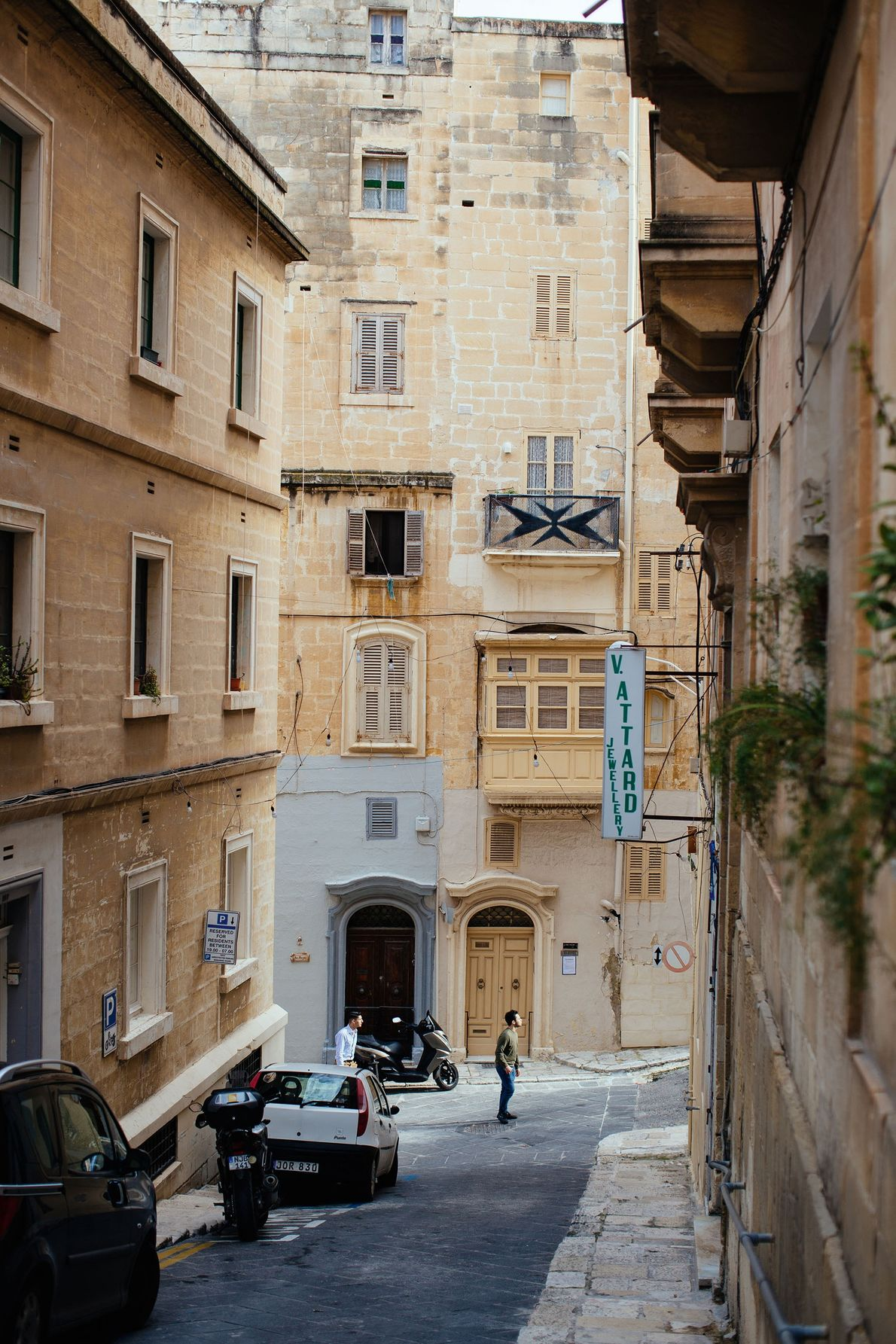 The streets of the capital, Valletta