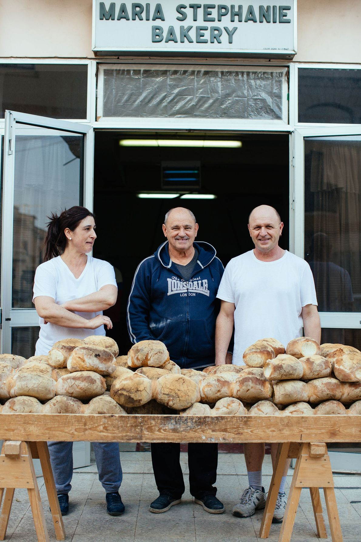 Two generations of Maria Stephanie Bakery owners