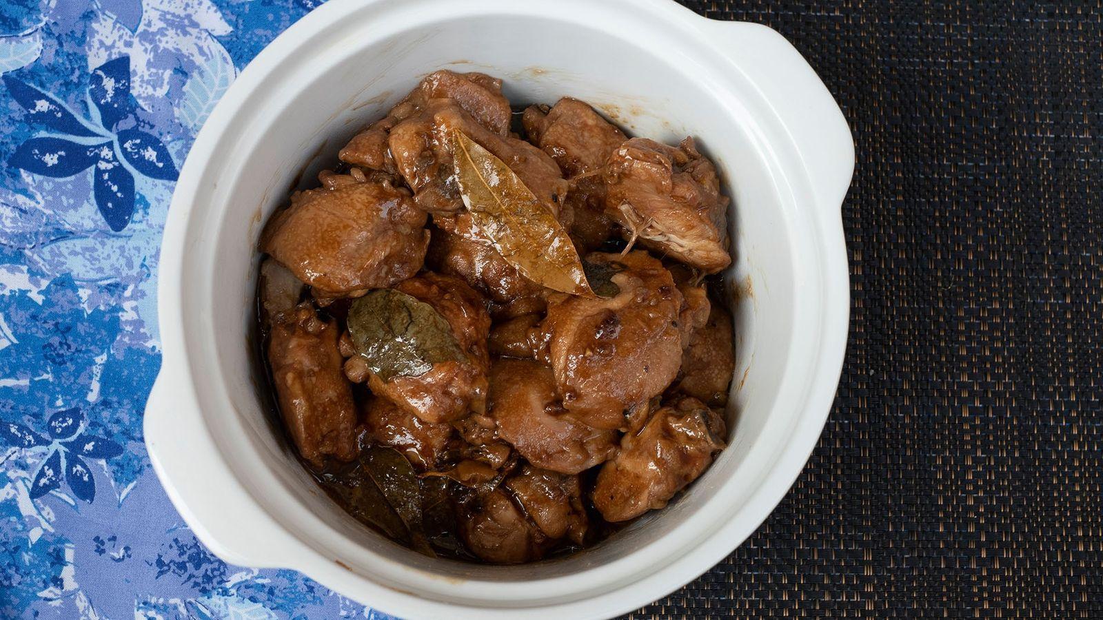 Alona Magale's chicken adobo.