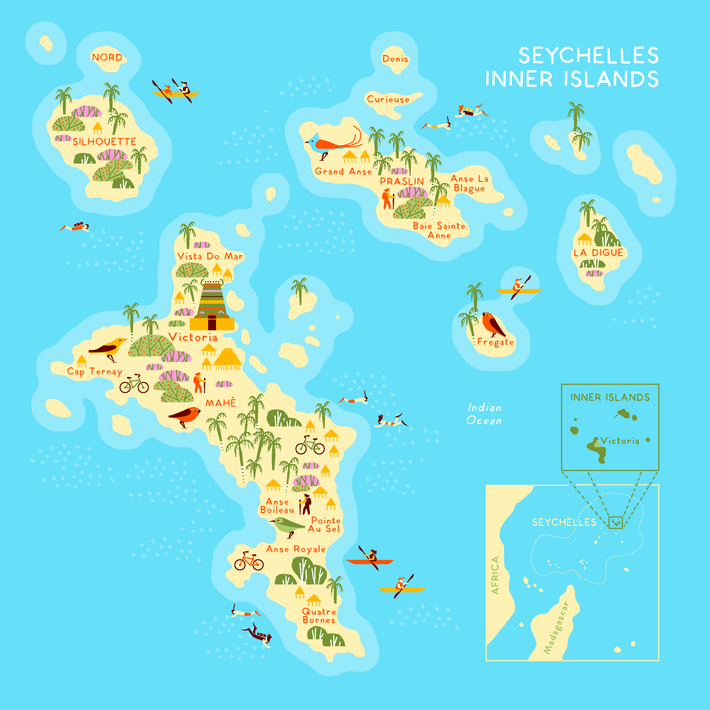 Every one of the Seychelles' Inner Islands offers unique experiences.