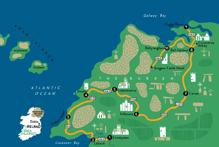 The 55-mile route takes three days if driving at a leisurely pace—and stopping to smell the ...
