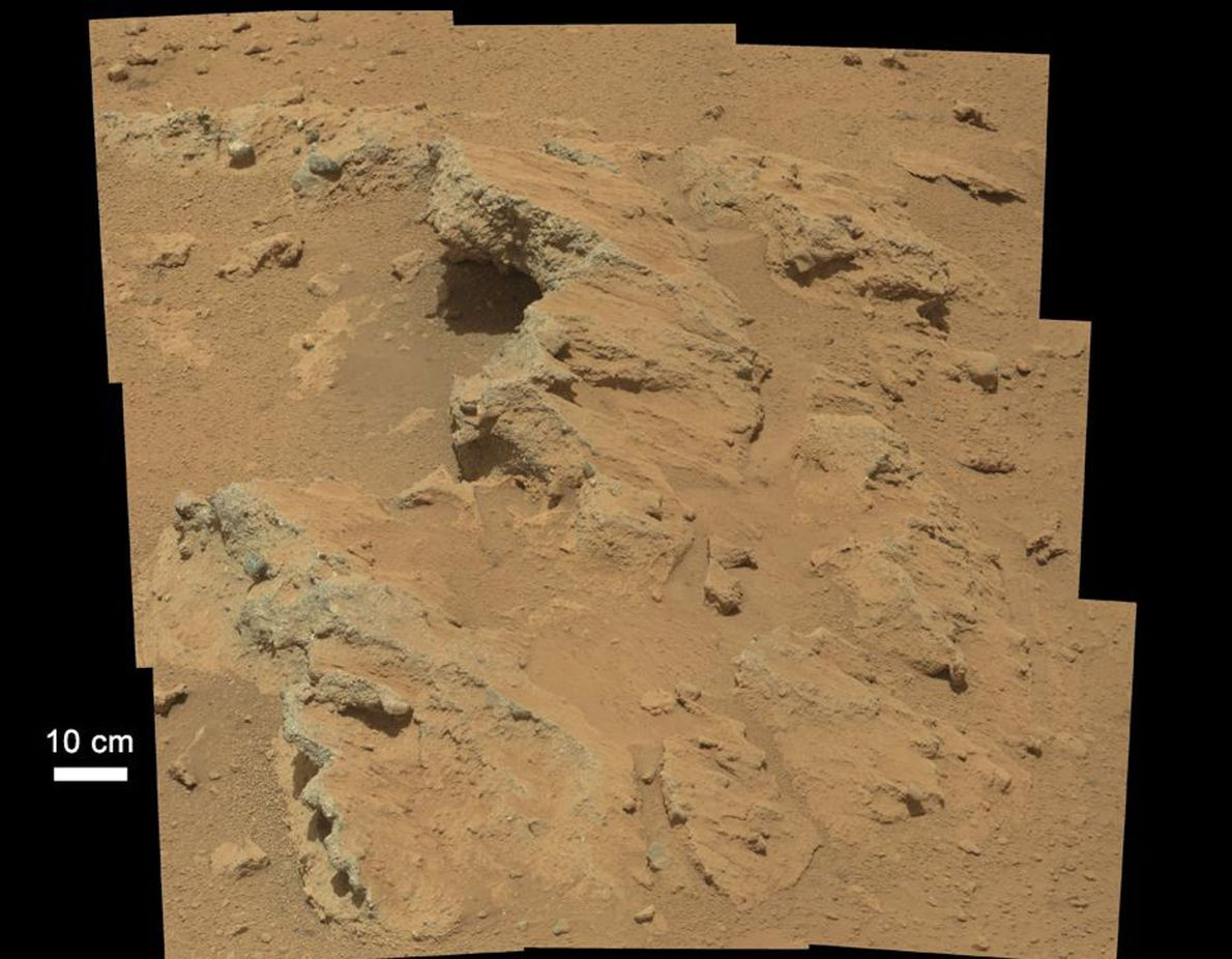 In 2012, NASA's Curiosity rover found the remains of a stream that once ran vigorously across ...