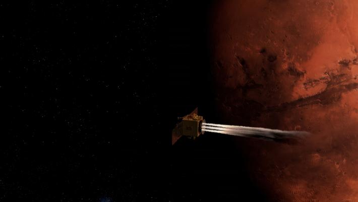 Hope probe in flight