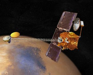 The Mars Odyssey was designed to explore the composition of Mars, detect water and ice close ...