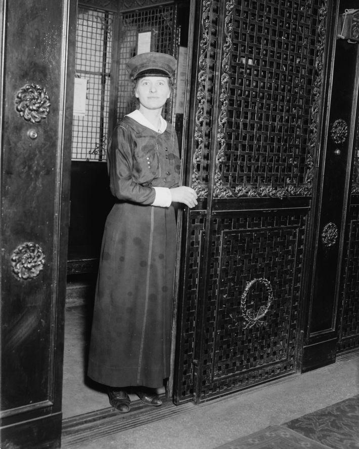 Martha Washington Hotel elevator operator