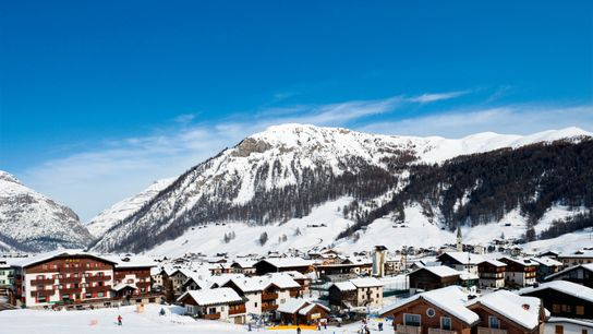 Livigno resort is best known for its world-class terrain park, attracting freestyle skiers and snowboarders.