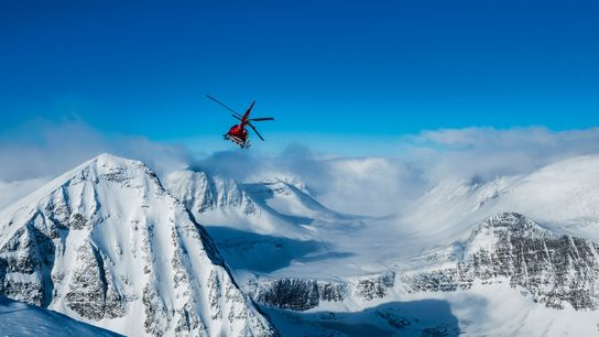 Niehku Mountain Villa on the Sweden/Norway border is the perfect site for heli-skiing.