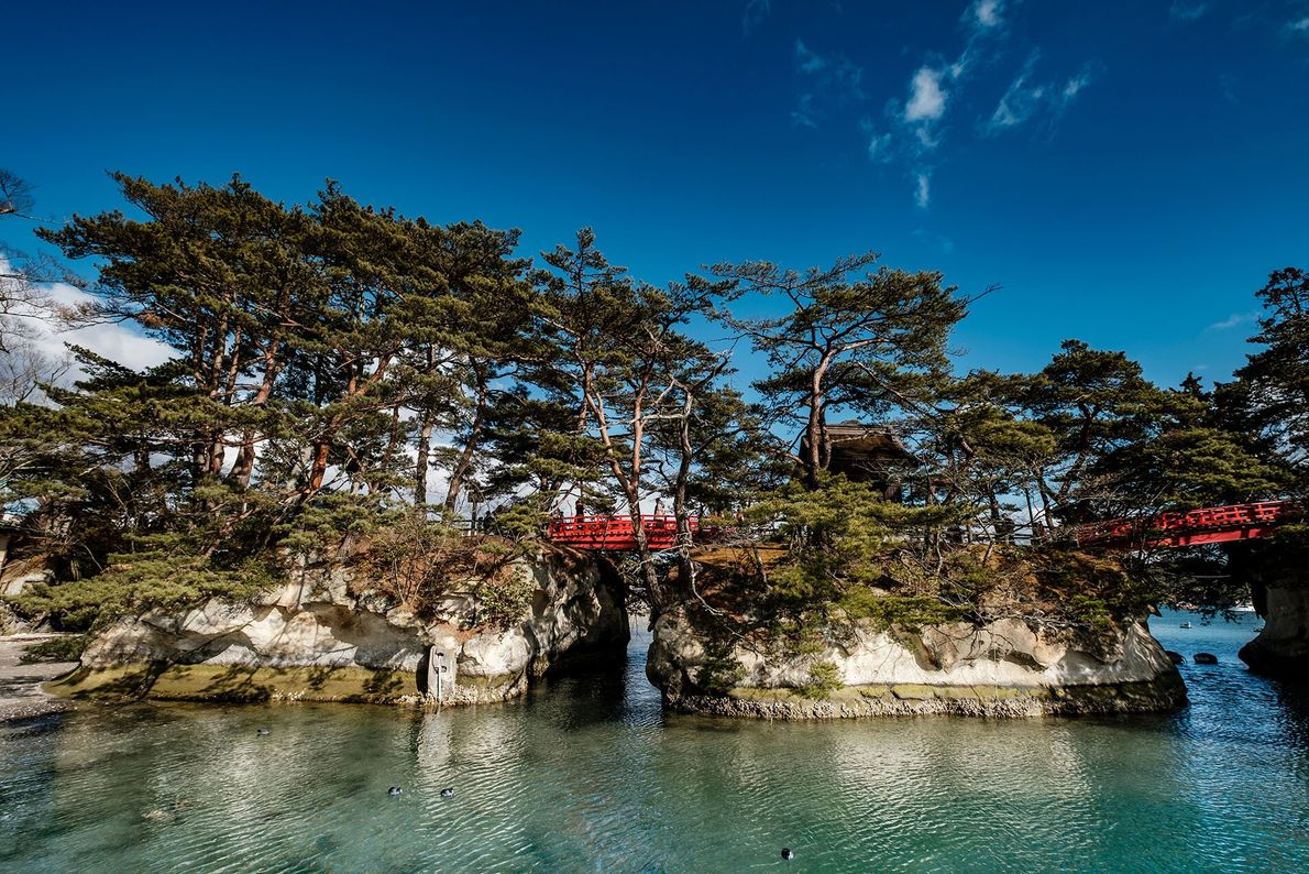 The pine-covered islets of Matsushima Bay are one of the Three Views of Japan — a ...
