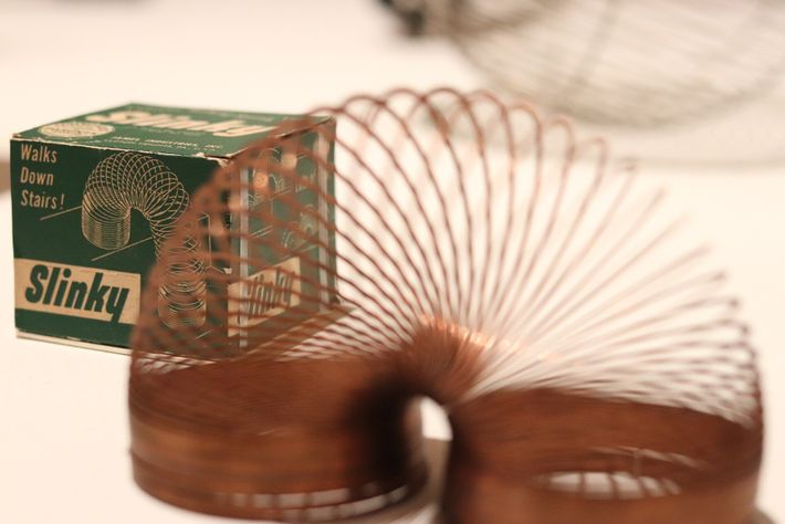 The Slinky idea came about when a Naval engineer knocked a spring from a shelf – ...